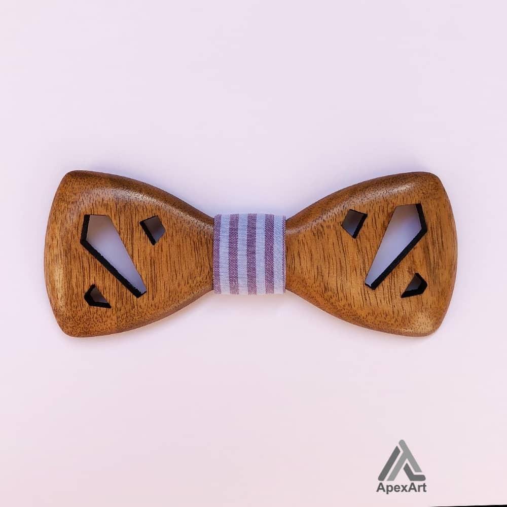 پاپیون چوبی طرح ترنج