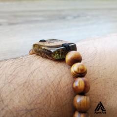دستبند چوبی و رزینی طرح شهریور