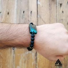 دستبند چوبی و رزینی طرح جلوه