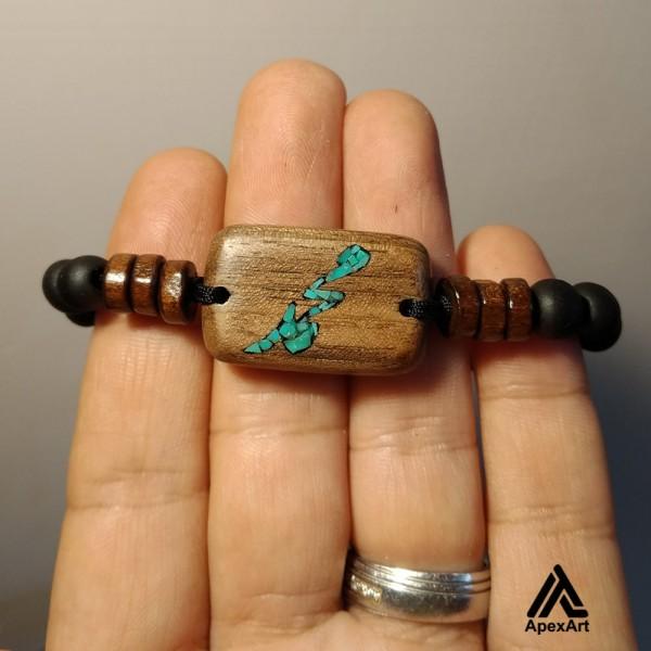 دستبند فیروزه کوبی شده طرح محمد