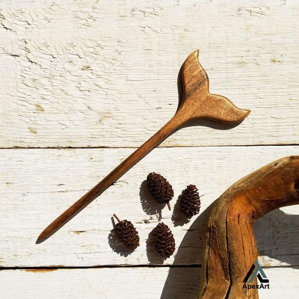 پین مو چوبی طرح باله نهنگ