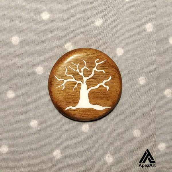 گردنبند چوبی طرح درخت