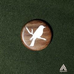 گردنبند چوبی طرح پرنده