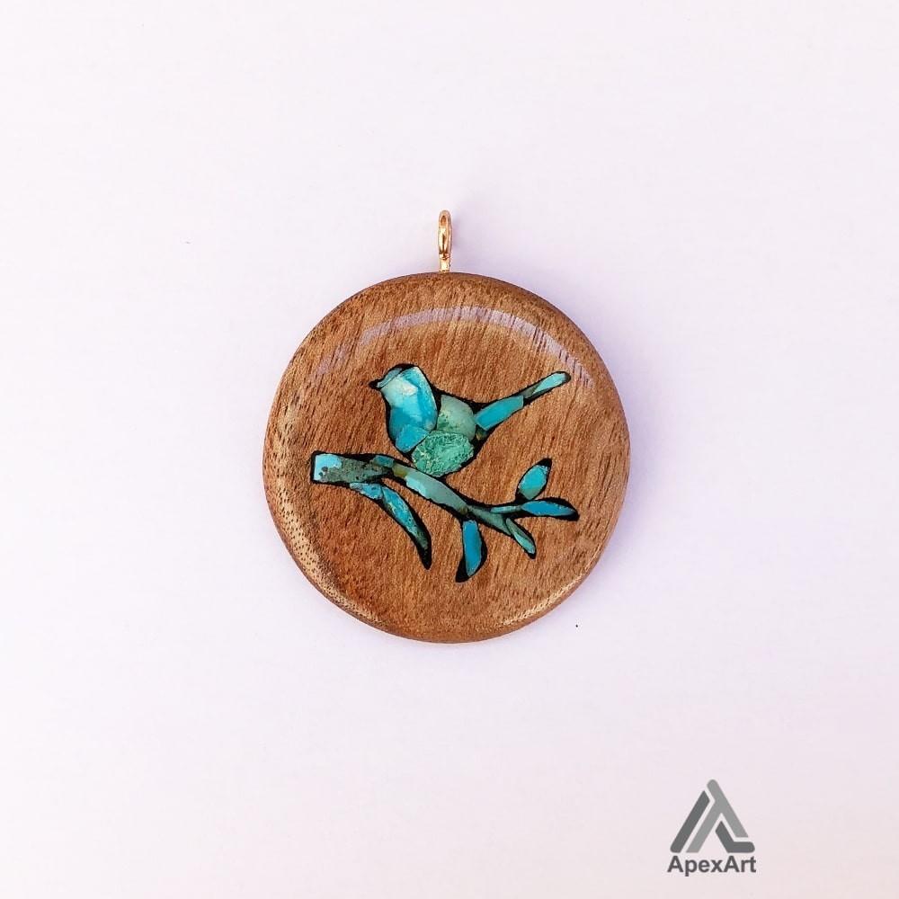 گردنبند فیروزه کوب طرح پرنده