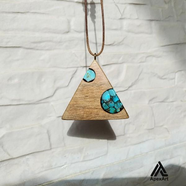 گردنبند فیروزه کوبی طرح مثلث