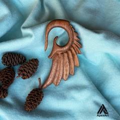 گردنبند چوبی طرح بال پرنده