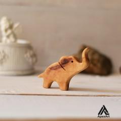 گردنبند چوبی طرح فیل