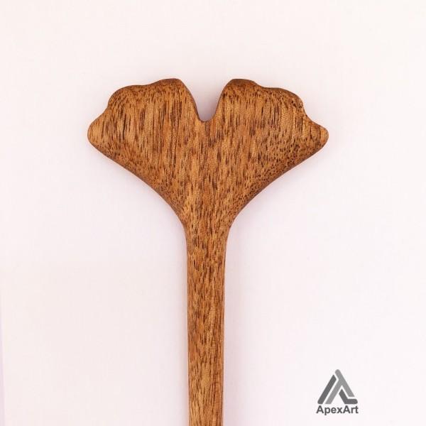 گیره مو چوبی طرح برگ