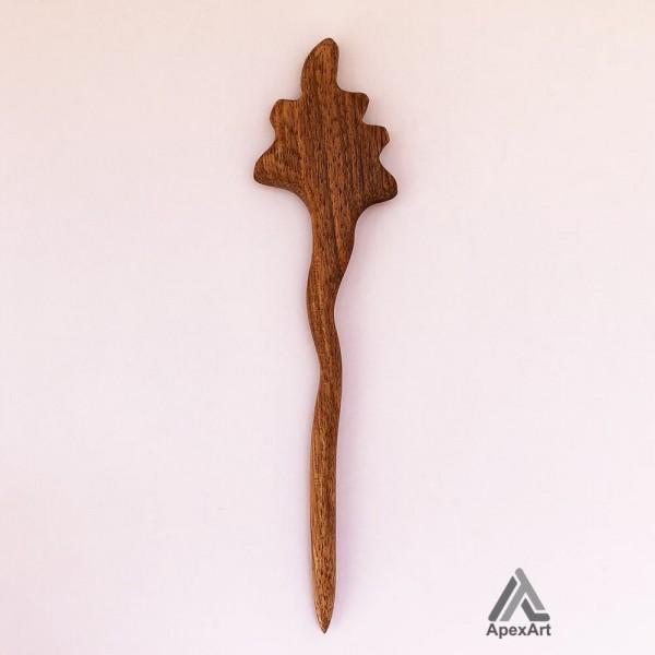 گیره مو چوبی طرح کاج