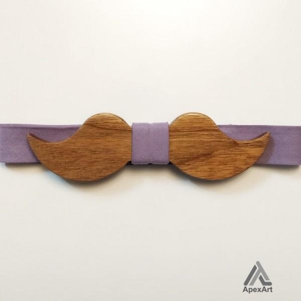 پاپیون چوبی طرح ساویس مدل سیبیل
