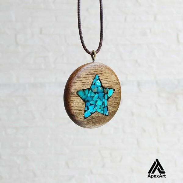 گردنبد فیروز کوبی چوبی طرح ستاره
