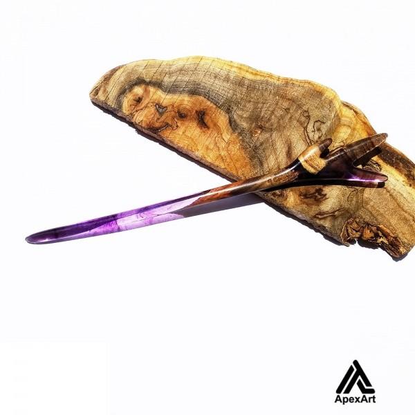 پین مو چوبی طرح شاخه