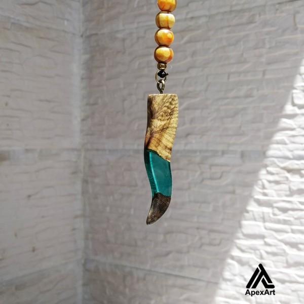 گردنبند چوبی طرح اردلان